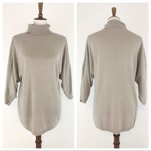 COTE FEMME TAN BAMBOO WOOL COWL NECK SWEATER